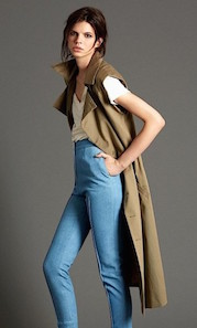 [image: fashion model wearing organic long trench]